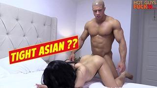Buff Gym Rat Fucks Roomates Chinese Lady. Penis Move Bro!